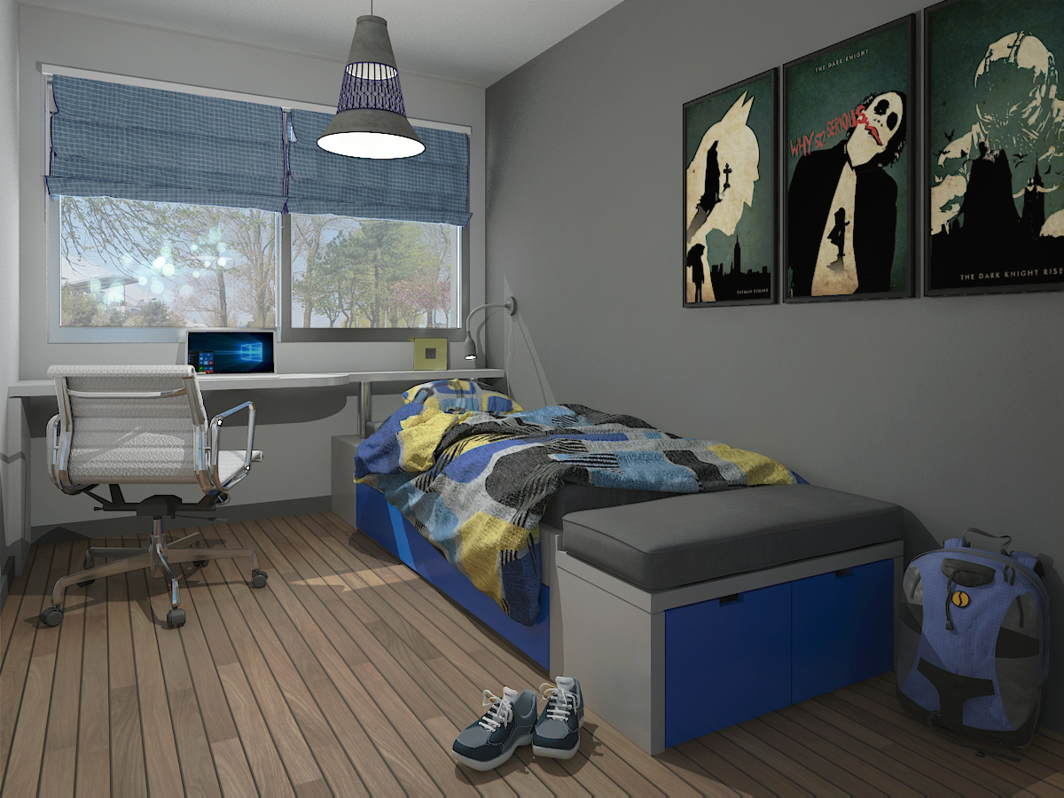 Dise o de dormitorio juvenil arquetipo muebleria y dise o de interiores en montevideo - Diseno dormitorio juvenil ...